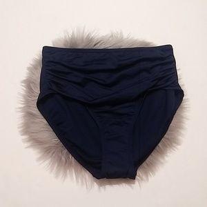 Merona | Navy Blue High Waist Bikini Bottom - S